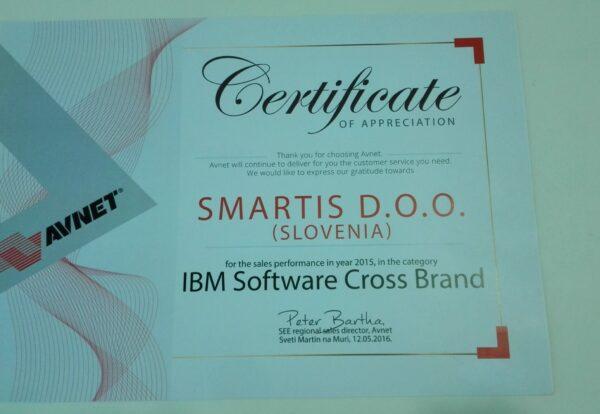Certifikat Avnet SmartIS